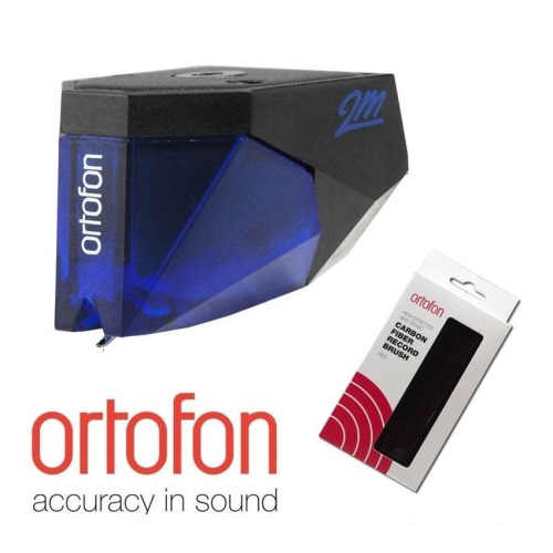 Ortofon 2M Blue + Ortofon Carbon Fiber Record Brush
